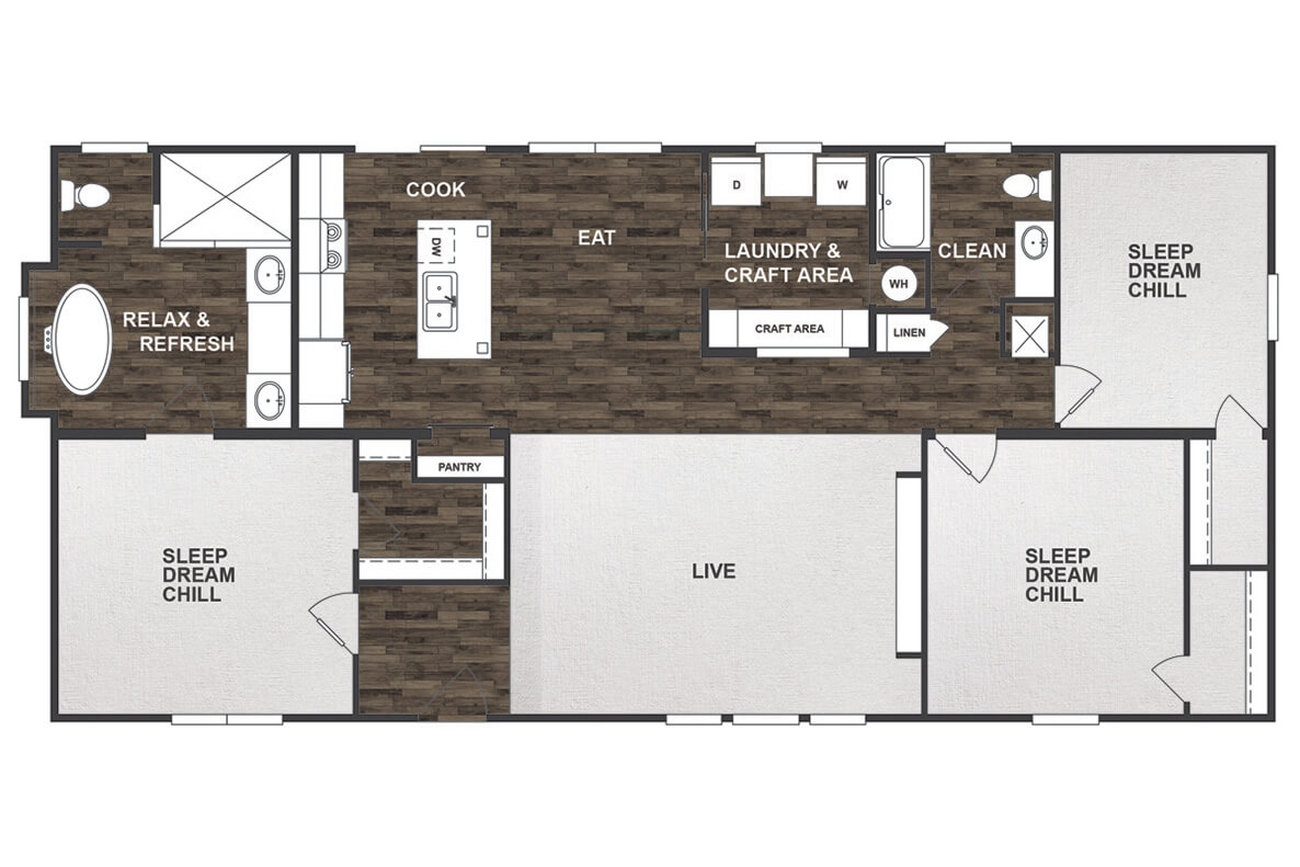 Patriot Floor Plan – Nationwide Manufactured Homes on